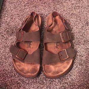 Birkenstock Betula Backstrap Leather Sandals